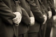 Homens no casamento imagens de stock royalty free