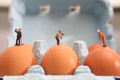 Homens no trabalho, ambiente frágil fotografia de stock