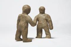 Homens pequenos do Plasticine fotografia de stock royalty free