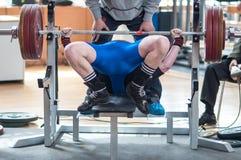 Homens Powerlifting da competição Foto de Stock