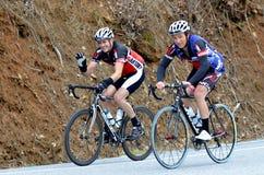 Homens que montam bicicletas Fotografia de Stock Royalty Free