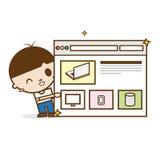 Homens que mostram o Web site novo Imagens de Stock