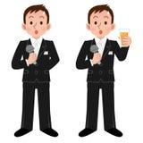 Homens que têm o cumprimento dos eventos ilustração royalty free