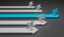 Homens Running ilustração do vetor