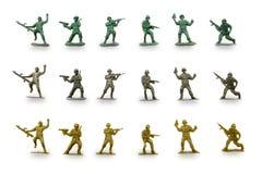 Homens verdes do exército fotografia de stock royalty free
