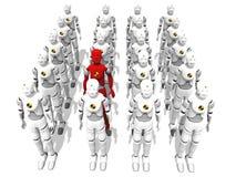 Homens vermelhos em um grupo ilustração stock