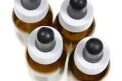Homeopathic Dropper Bottles Stock Photos