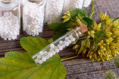 Homeopathic globules stock photography