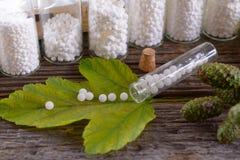 Homeopathic globules Stock Image