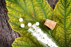 Homeopathic globules Stock Photo