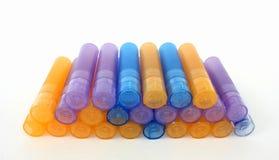 homeopathic läkarundersökningpackar arkivfoto