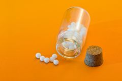 Homeopathic medication Stock Image