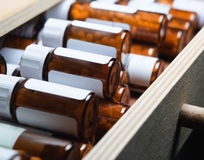 Homeopathic Remedy Bottles Stock Image