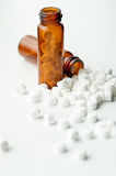 Homeopathic Tissue Salts. Amber bottle with homeopathic tissue salts Stock Photos