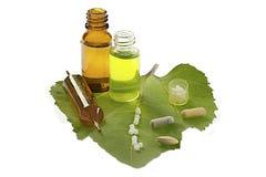 Homeopathie en phythoterapy royalty-vrije stock fotografie