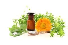 Homeopathie met druppeltjes Stock Fotografie