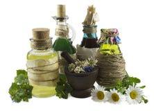 Homeopathisch stilleven 2 Royalty-vrije Stock Afbeeldingen
