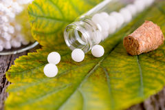 Homeopathische druppeltjes Royalty-vrije Stock Foto