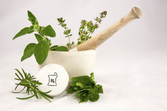 Homeopathische Geneeskunde stock foto