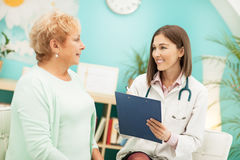 Homeopathist and Her Patient Stock Images