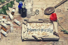 homeopathy Immagine Stock