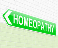 Homeopathy concept. Illustration depicting a sign with a Homeopathy concept Stock Image