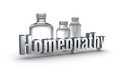 Homeopathy 3d word concept over white Stock Photos