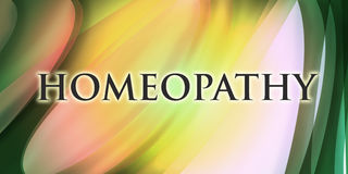 Homeopathy design. Homeopathy background with shapes and waves Royalty Free Stock Images