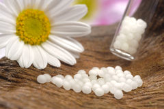 Homeopathy with globules Stock Photo