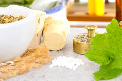 Homeopathy, globules Royalty Free Stock Photo