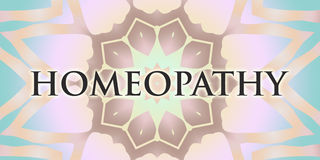 Homeopathy mandala. Homeopathy design and energy mandala Royalty Free Stock Photo