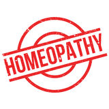 Homeopathy rubber stamp. Grunge design with dust scratches. Effects can be easily removed for a clean, crisp look. Color is easily changed Royalty Free Stock Images