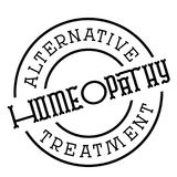 Homeopathy typographic stamp. Typographic sign, badge or logo Royalty Free Stock Image