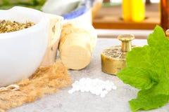 Homeopatia, globula Zdjęcie Royalty Free
