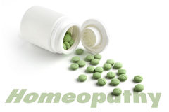 Homeopatisk minnestavla Royaltyfri Bild
