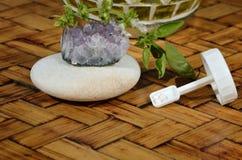 Homeopatiska små kulor och stenar Royaltyfri Fotografi