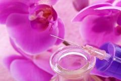 Homeopatyczny naturalny piękno zastrzyk fotografia stock