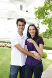 Homeowner: Couple buying a new house royalty free stock image