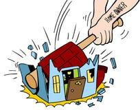 Homeowner Destroying House Stock Photos