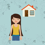 Homeowner outside design Royalty Free Stock Photo