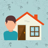 Homeowner outside design Royalty Free Stock Photography