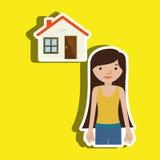 Homeowner outside design Stock Images