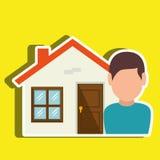Homeowner outside design Royalty Free Stock Image