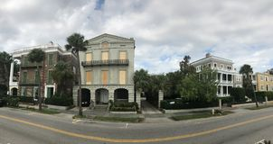 Preparation for Hurricane Irma. Homeowners in downtown Charleston take precautions to their homes from from strong winds of Hurricane Irma Stock Photo