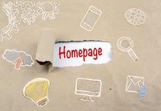 Homepage-Adress-Digitaltechnik-Verbindungs-Konzept Stockbild