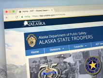 Homepage of The Alaska State Troopers, royalty free stock image