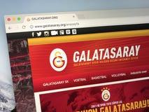 Homepage av Galatasaray, en turkisk fotbollklubba Royaltyfria Bilder