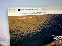 Homepage av kristallklara motorer royaltyfria bilder