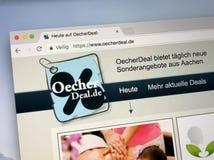 Homepage av oecherdeal Arkivbild