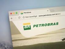 Homepage av PetroBras royaltyfri bild